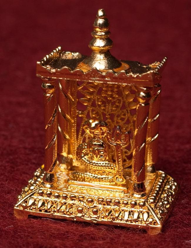 ゴールド・ミニ・シヴァ・リンガム - 寺院タイプの写真