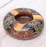 ソープストーンのペイント灰皿 -