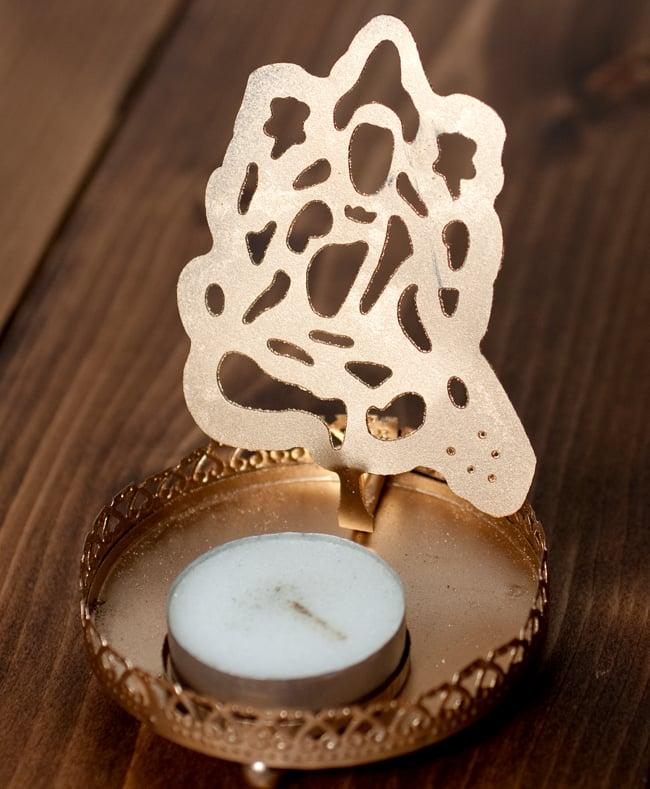 ティーライトキャンドルのシャドウランプ - サラスヴァティの写真2 - 明るいところではこのような雰囲気です