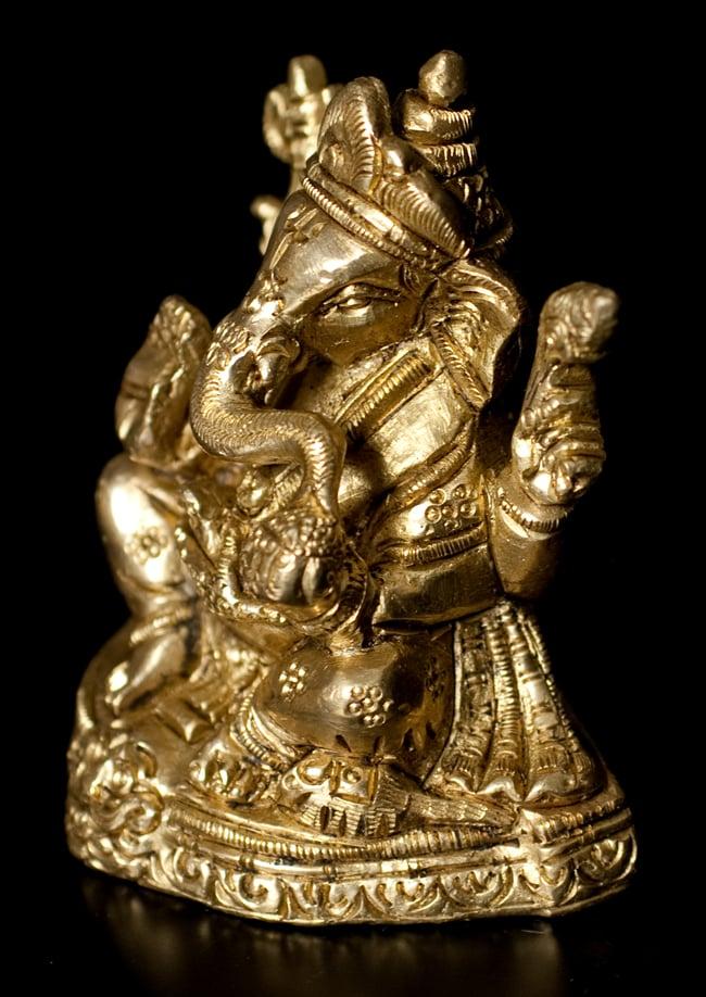 ブラス製 ガネーシャ像〔8cm〕の写真3 - 横からの写真になります
