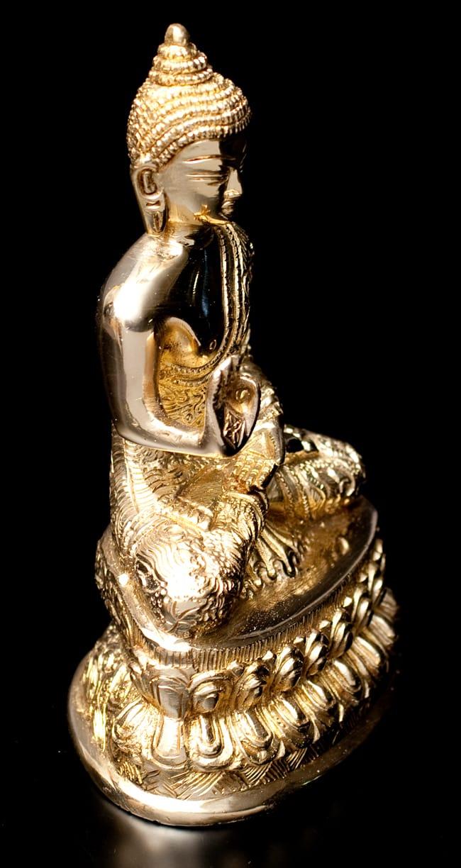 金色に輝くヒストリーブッダ像【高さ:約18cm】の写真3 - 横からの写真です