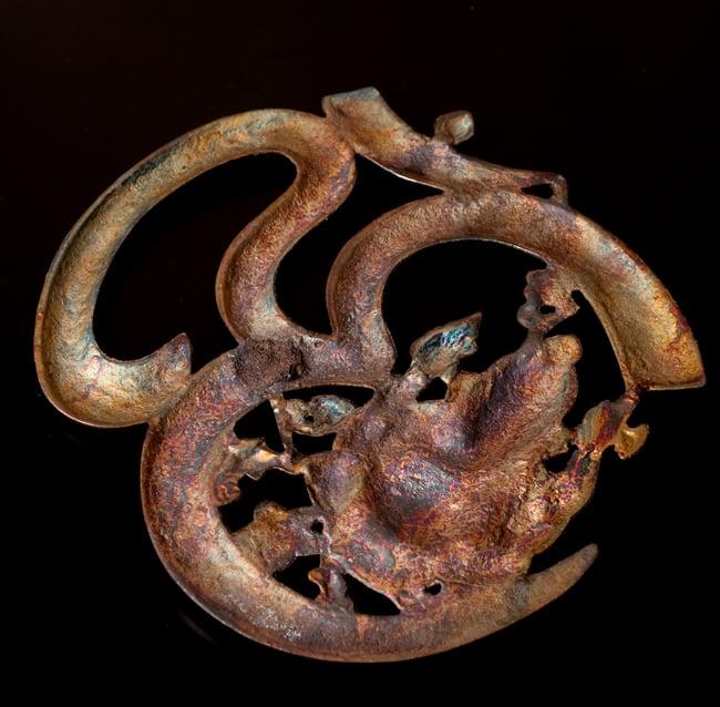 〔壁掛けタイプ〕インドの神様ウォールハンギング - オーンガネーシャ〔約26.3cm〕 6 - 裏面はこのようになっています