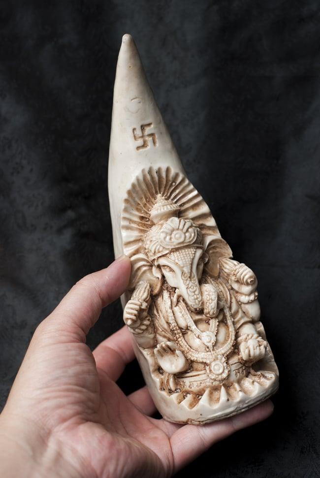 トゥースガネーシャ ホワイト[21cm]の写真6 - 背面はこのような様子です。