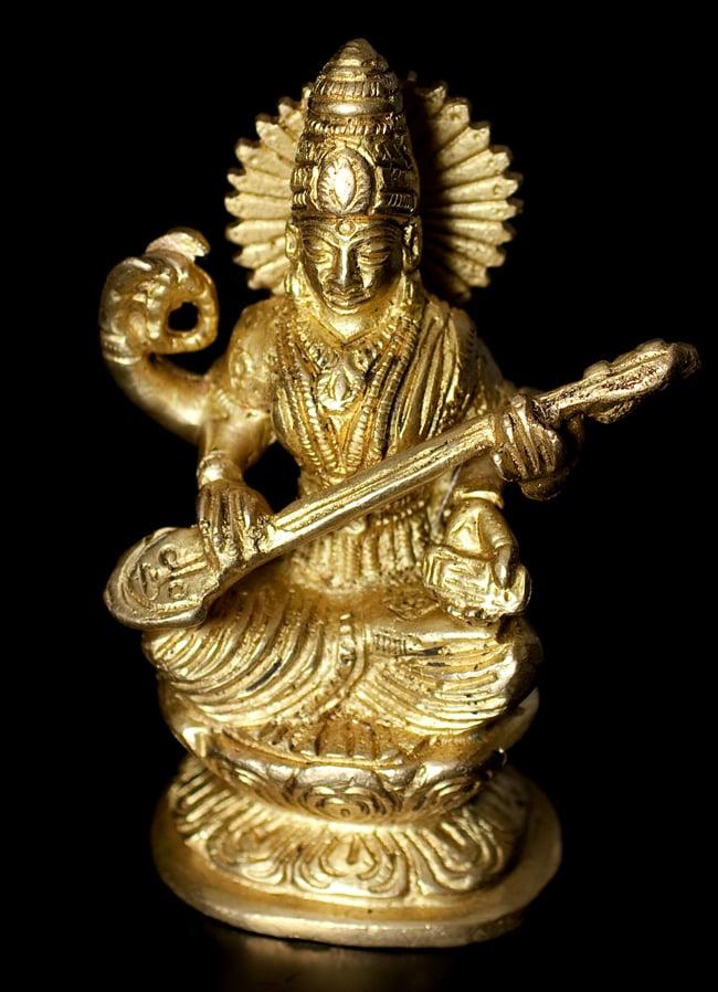 ブラス製 サラスヴァティ像[11.2cm]の写真