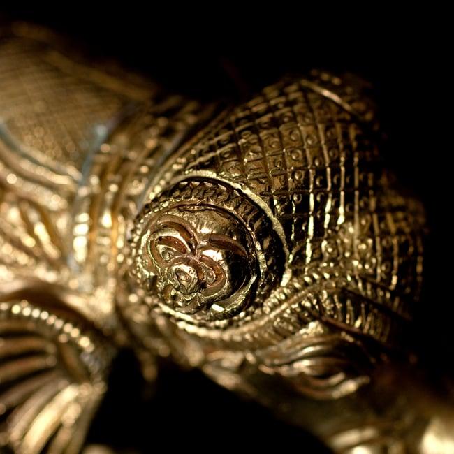 ブラス製 装飾付きエレファント像 大[8.5cm] 6 - 細部の拡大写真です