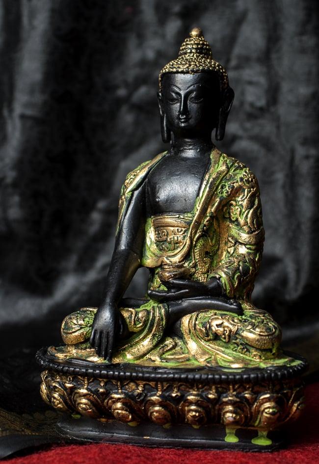 ブッダ[20cm]の写真8 - 選択1:金×緑