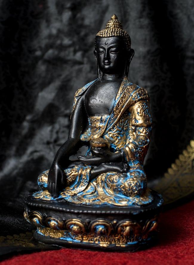 ブッダ[20cm]の写真9 - 選択2:金×水色