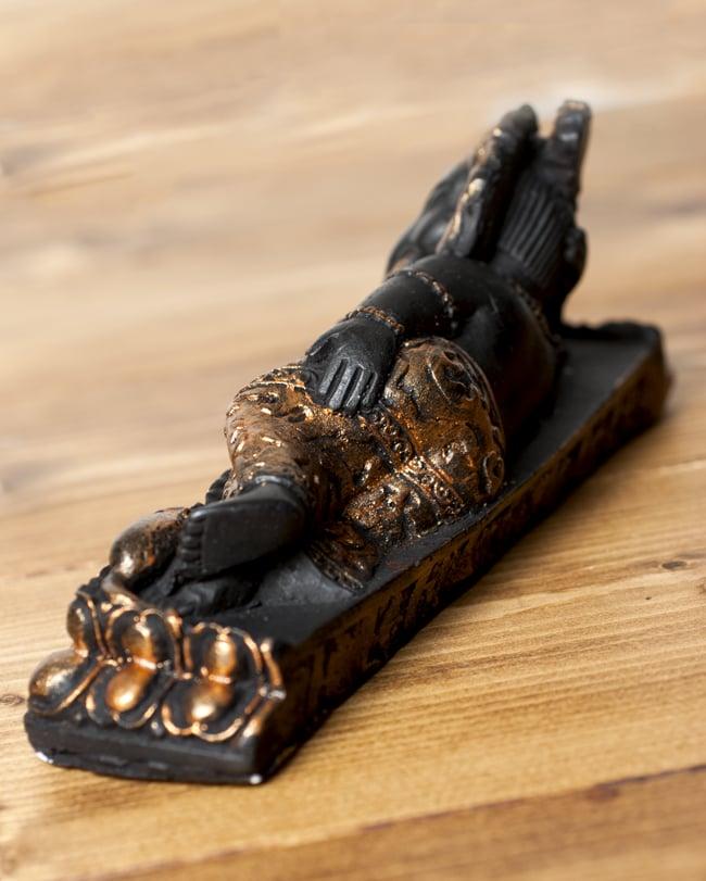 眠りガネーシャ 銅[20cm]の写真6 - 背面はこのような様子です。