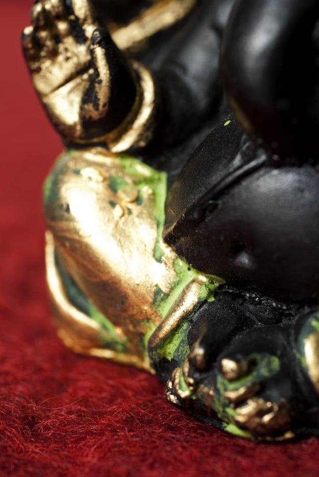 ラッドゥガネーシャ[11.5cm]の写真8 - 選択1:金×緑