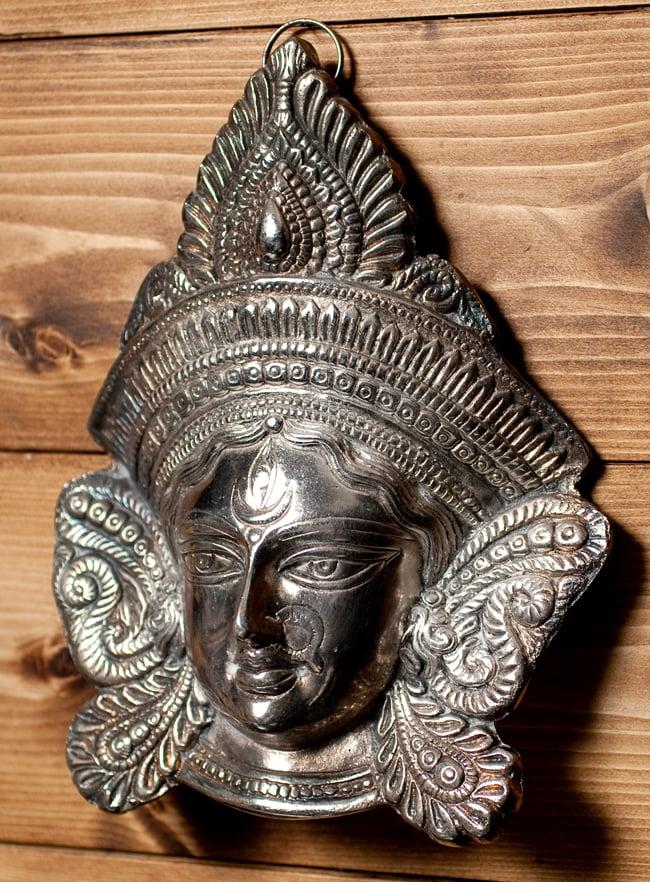 〔壁掛けタイプ〕インドの神様ウォールハンギング - アルダナーリーシュヴァラ〔24cm〕の写真3 - 横からの写真です