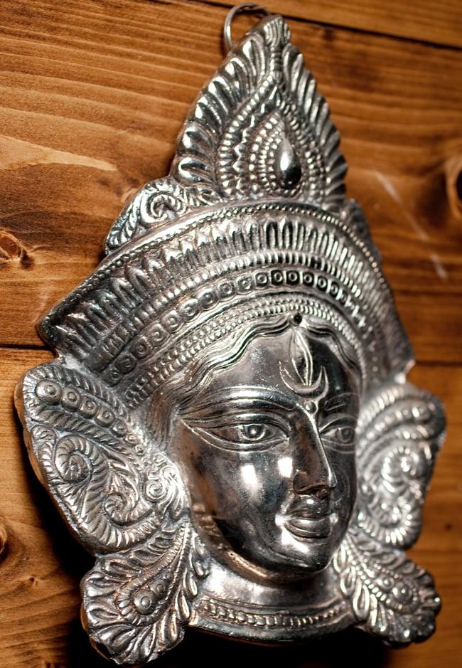 〔壁掛けタイプ〕インドの神様ウォールハンギング - アルダナーリーシュヴァラ〔24cm〕の写真4 - 反対側からの写真です