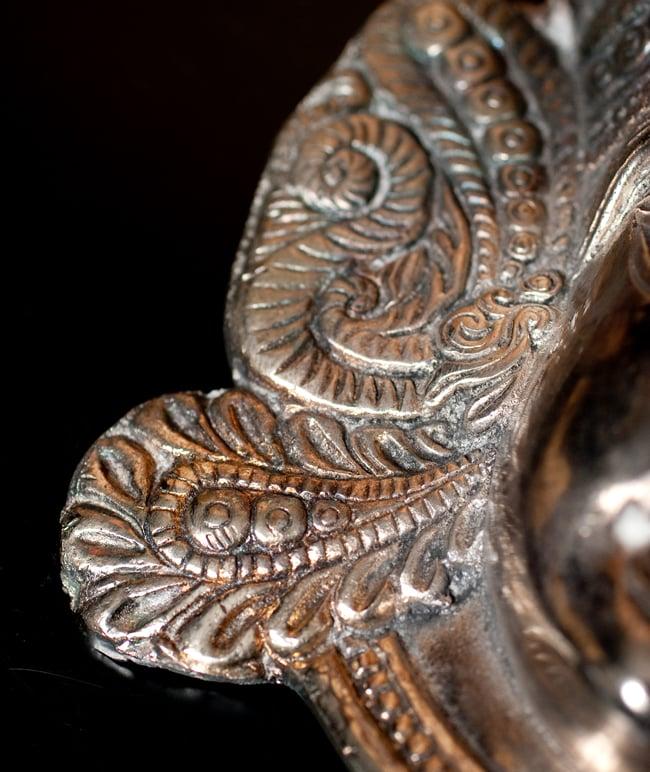 〔壁掛けタイプ〕インドの神様ウォールハンギング - アルダナーリーシュヴァラ〔24cm〕の写真8 - 細かいところもよくできています