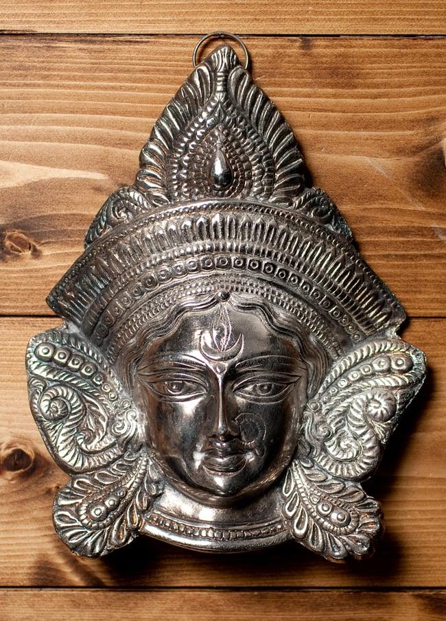 〔壁掛けタイプ〕インドの神様ウォールハンギング - アルダナーリーシュヴァラ〔24cm〕の写真