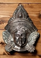 エスニック雑貨のセール品:[日替わりセール品]〔壁掛けタイプ〕インドの神様ウォールハンギング - アルダナーリーシュヴァラ〔24cm〕