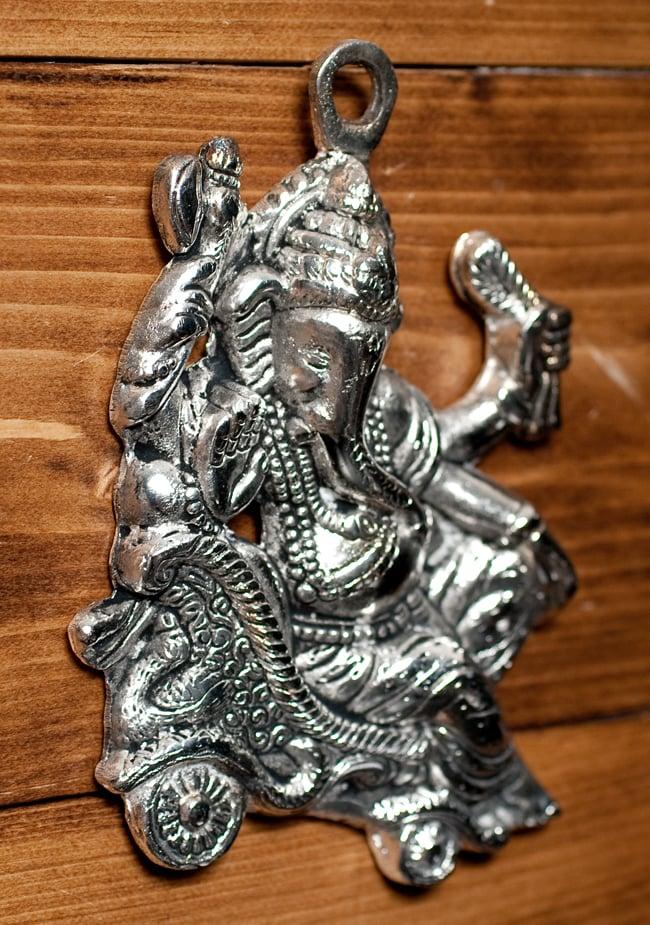 〔壁掛けタイプ〕インドの神様ウォールハンギング - ガネーシャ〔16.5cm〕の写真4 - 反対側からの写真です