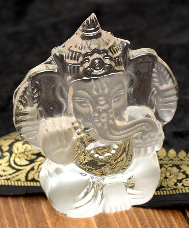 【ちょっと訳あり】ガラスのガネーシャ[12.5cm]の写真