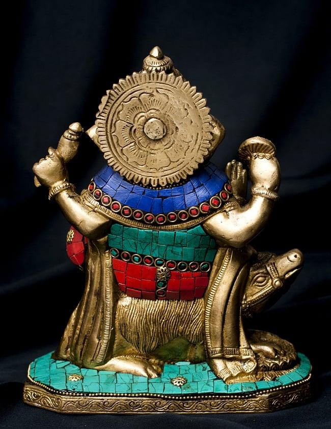 【一点もの】緑青石装飾のガネーシャ[高さ:19.5cm]の写真9 - 背面の様子です。