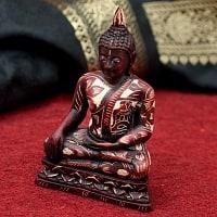 手彫り模様のブッダ像[3.2cm]