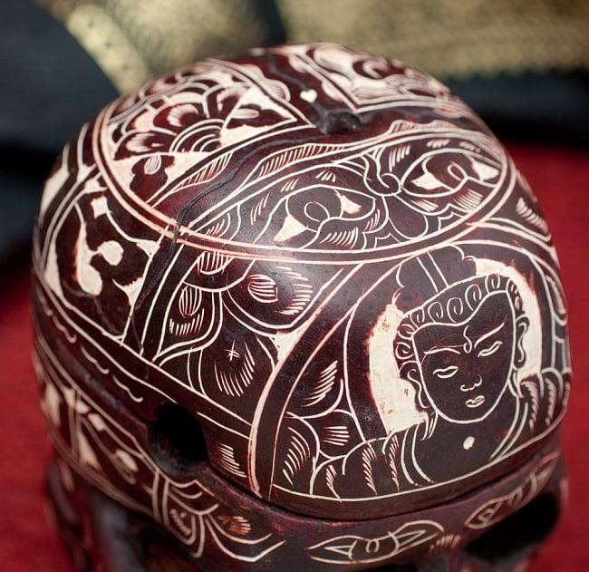 手彫り模様のスカル型灰皿&小物入れ 大 5 - 細部まで手彫りされています
