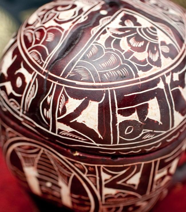 手彫り模様のスカル型灰皿&小物入れ 大 6 - それぞれ柄が異なっております