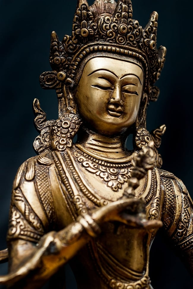 ヴァジュラ・サットゥヴァ −金剛薩た - 22cm 3 - 角度を変えるとまた表情が異なって見えます。