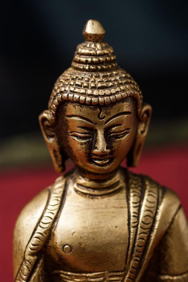 仏陀 - 12cm 2 - 顔のアップです。