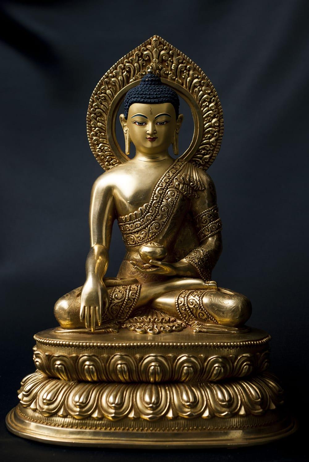 仏陀(ブッダ) 銅造鍍金仕上げ - 32cm の通販[送料無料] - TIRAKITA.COM