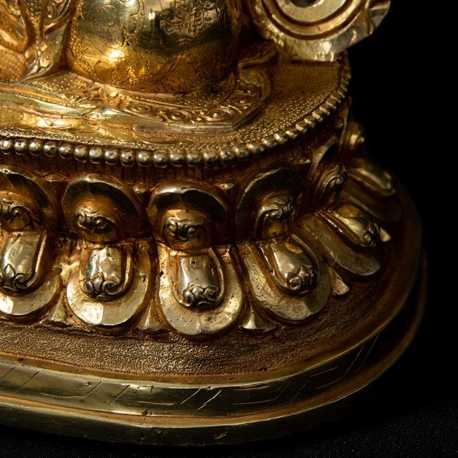 金剛薩た(ヴァジュラ・サットゥヴァ) 銅造鍍金仕上げ - 37cm 16 - 台座部分です。