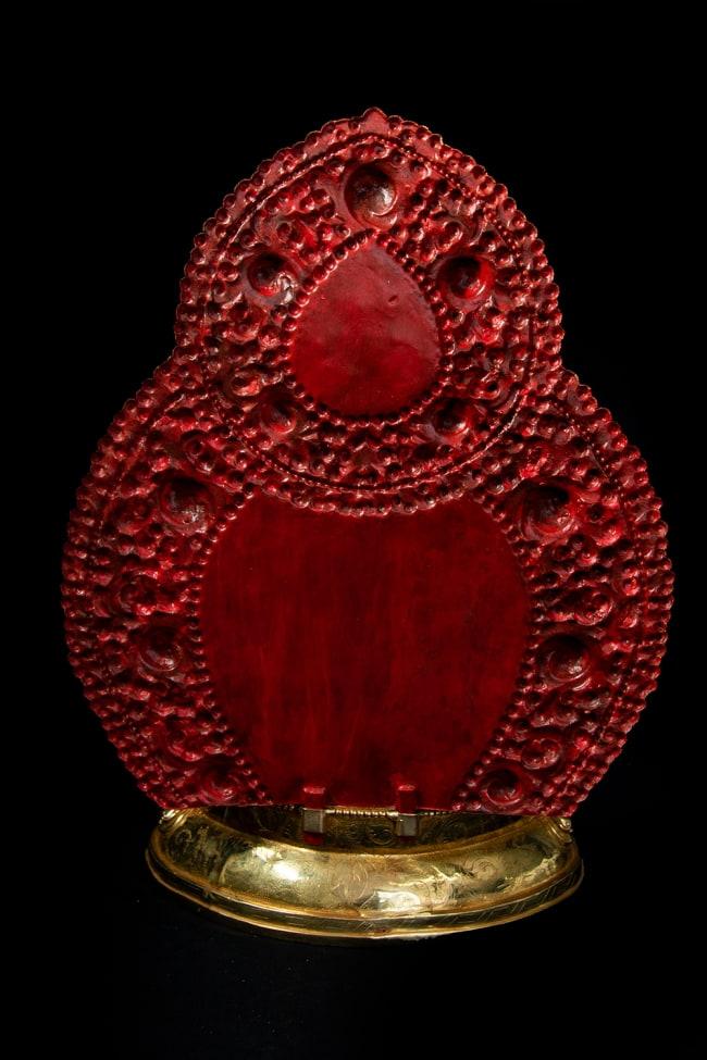 金剛薩た(ヴァジュラ・サットゥヴァ) 銅造鍍金仕上げ - 37cm 18 - 背面からみてみました。