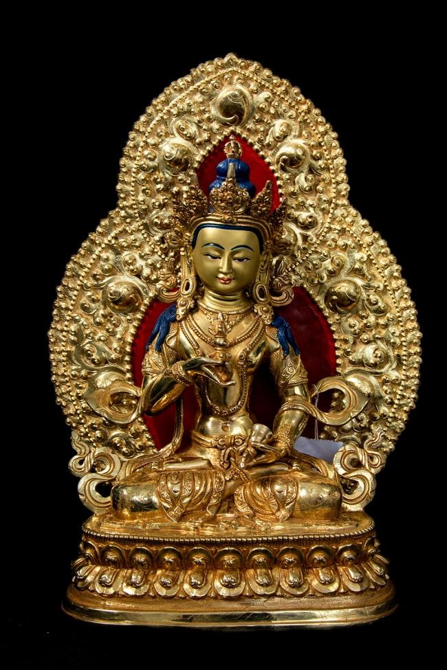 金剛薩た(ヴァジュラ・サットゥヴァ) 銅造鍍金仕上げ - 37cmの写真