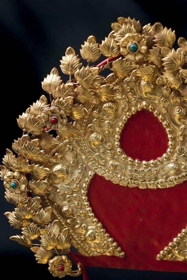 神像・仏像用台座  - 銅造鍍金仕上げ 2 - 台座の拡大写真になります。