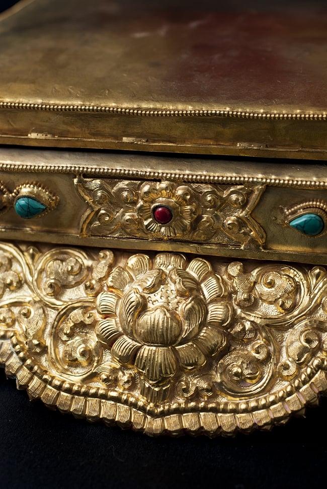 神像・仏像用台座  - 銅造鍍金仕上げ 4 - 別の角度から見てみました。
