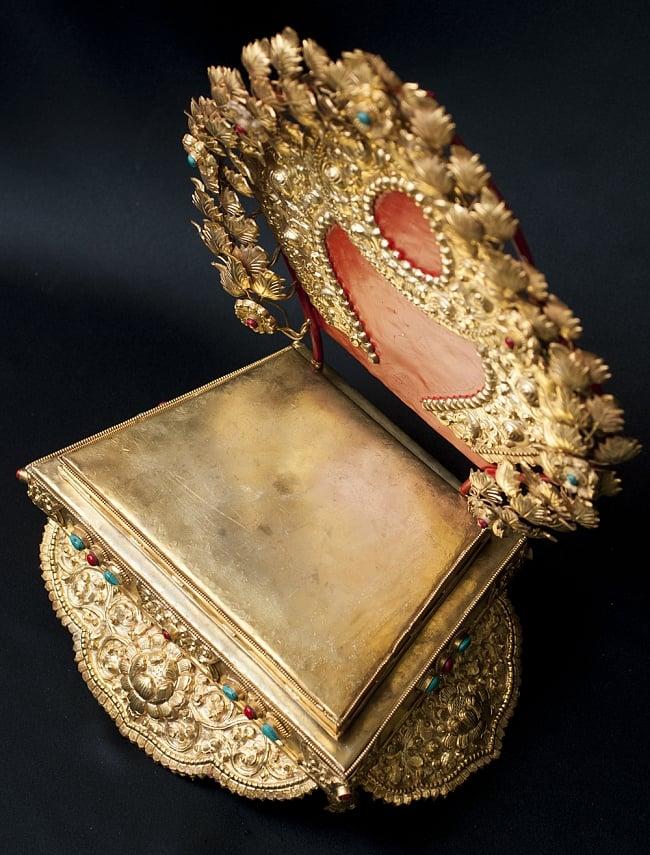 神像・仏像用台座  - 銅造鍍金仕上げ 6 - 上からみてみました。