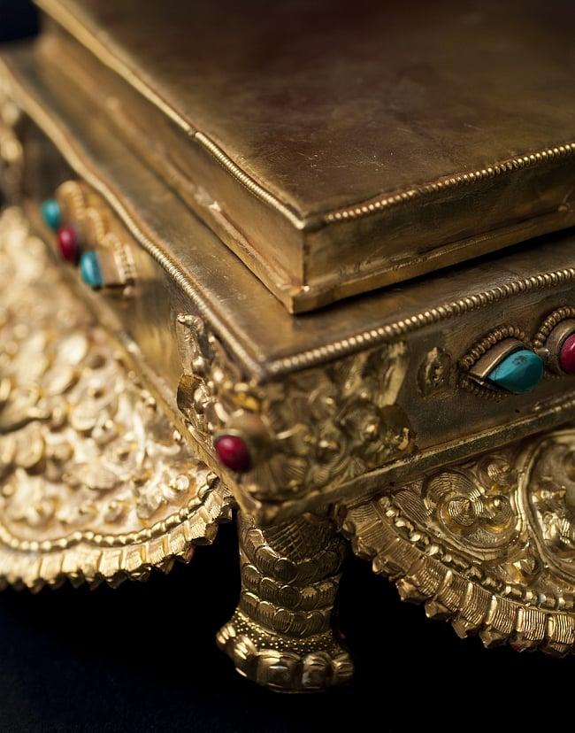 神像・仏像用台座  - 銅造鍍金仕上げ 7 - 角の様子です。
