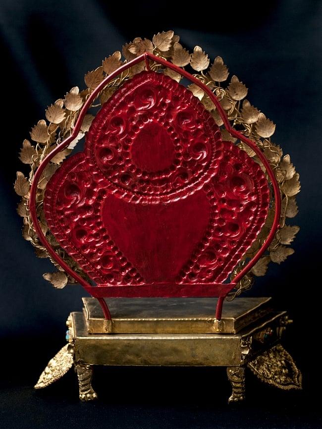 神像・仏像用台座  - 銅造鍍金仕上げ 8 - 背面からみてみました。
