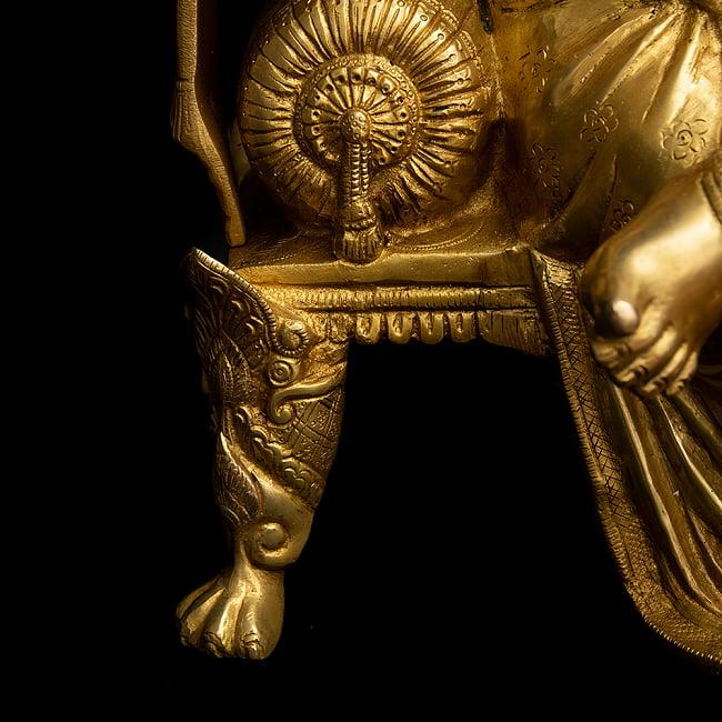 ブラス製 座りガネーシャ像[50cm] 10 - 台座の足にも細かな装飾が行き届いた、本格的な逸品です。