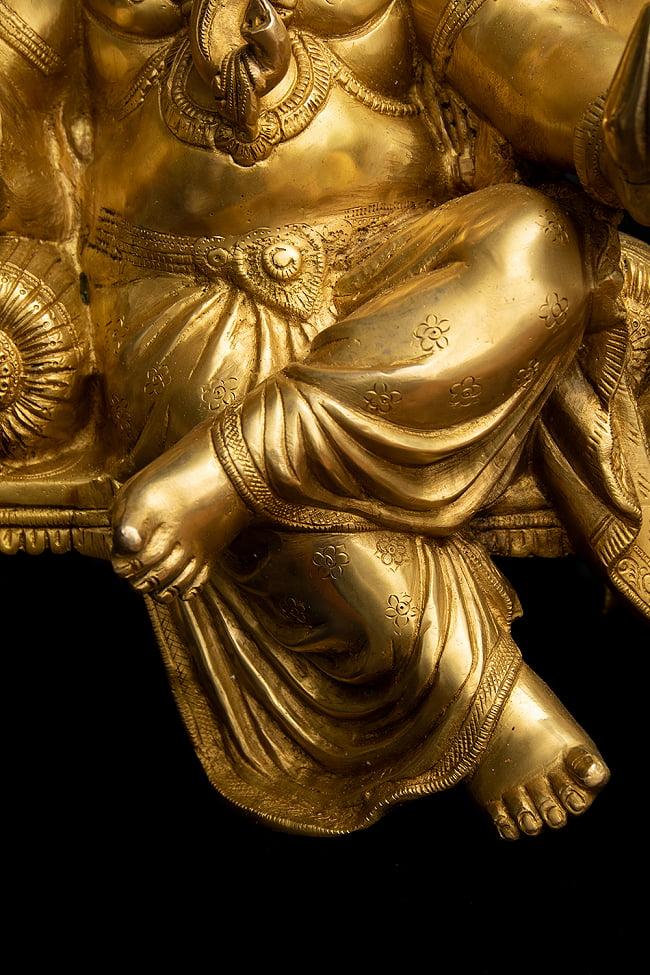 ブラス製 座りガネーシャ像[50cm] 11 - どっしりとした存在感があります。
