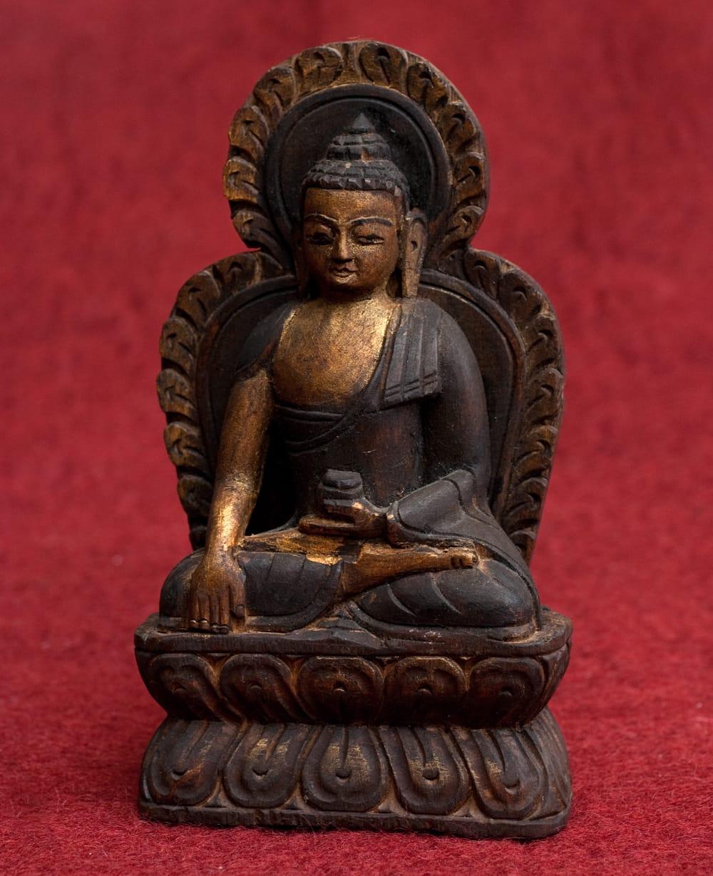 一点もの]木彫りの仏陀(ブッダ...
