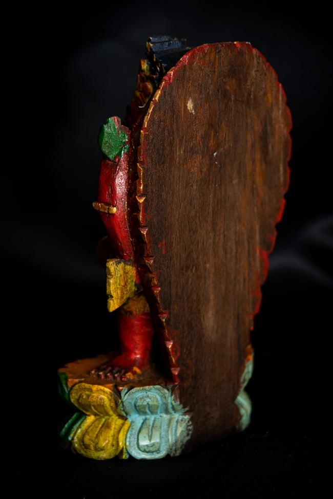 [一点もの]木彫りのレッド・ガネーシャ - 18cm 10 - 裏面です