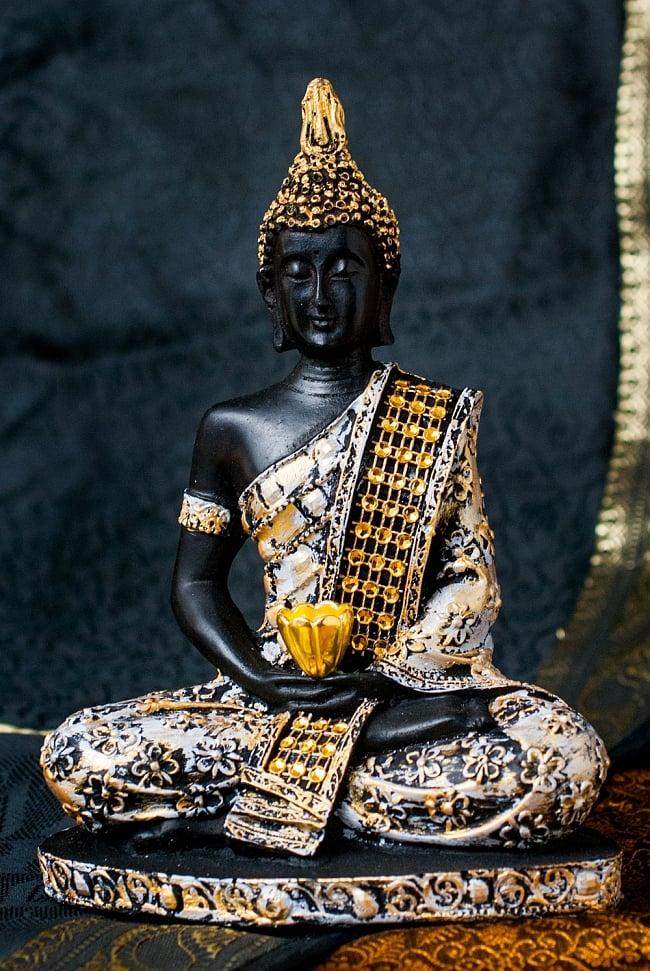金装飾ブッダ[19cm] 9 - 選択1:白と金色