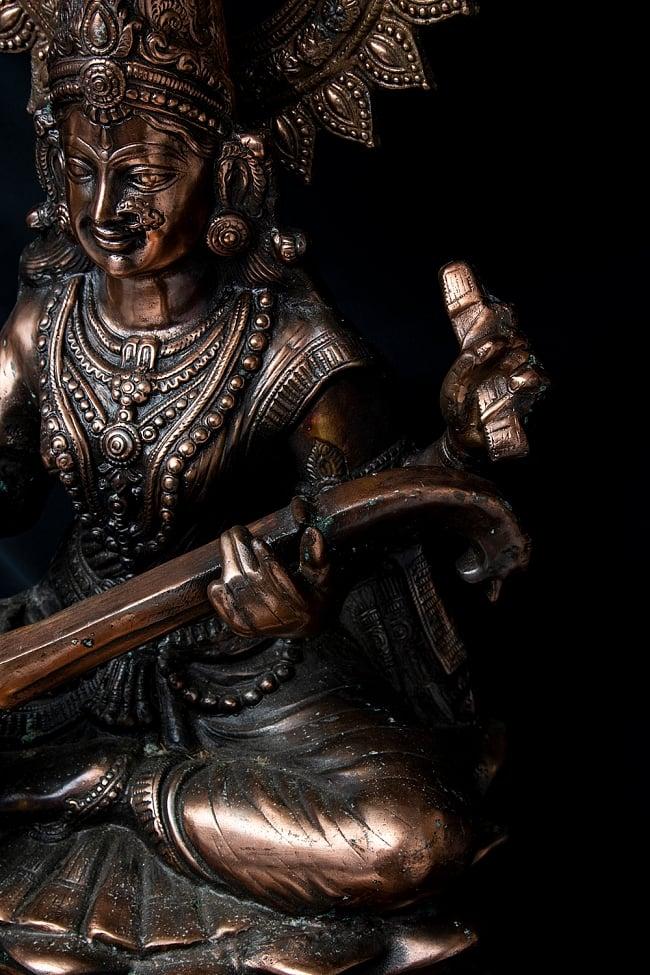 サラスバティー[88cm] 4 - ヴィーナと呼ばれる楽器を手に持っています。