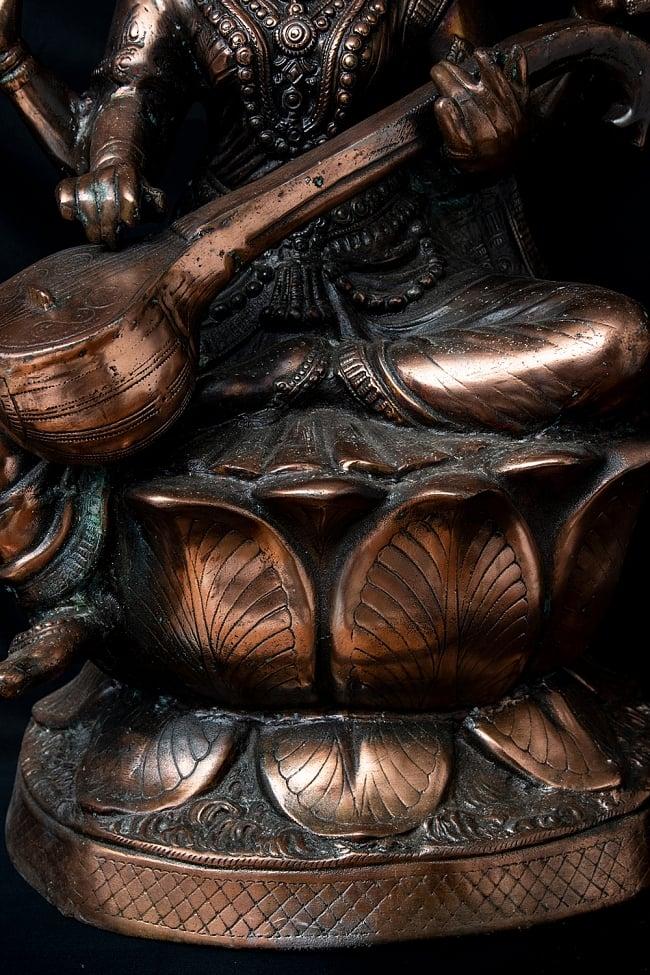 サラスバティー[88cm] 6 - 蓮の台座に座っています。