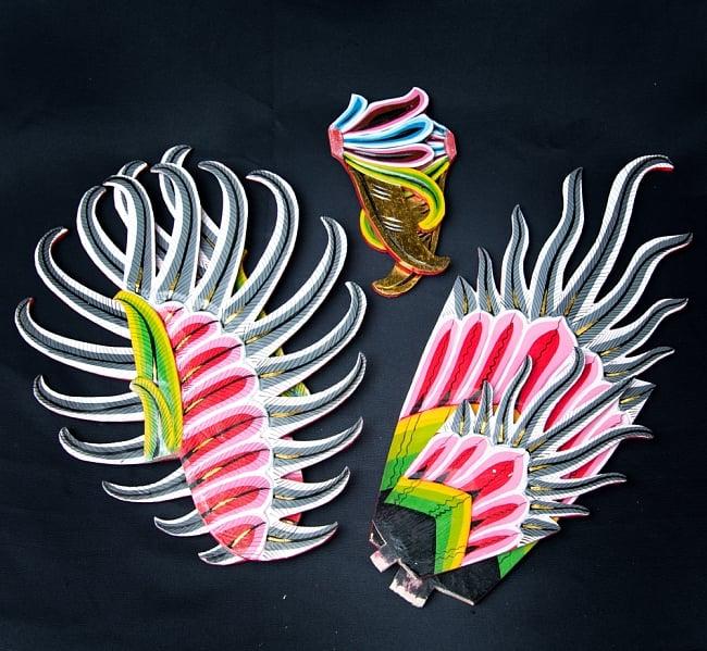 ガルーダ&ヴィシュヌ像 特大サイズ70cm 12 - 羽などのパーツは取り外した状態でお送りします。
