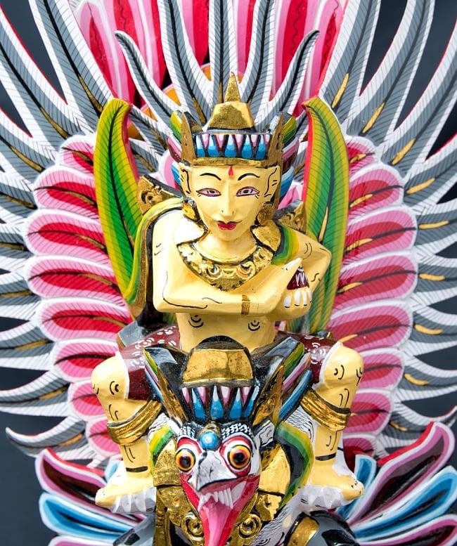ガルーダ&ヴィシュヌ像 特大サイズ70cm 2 - ヴィシュヌ神の凛々しい御尊顔です。