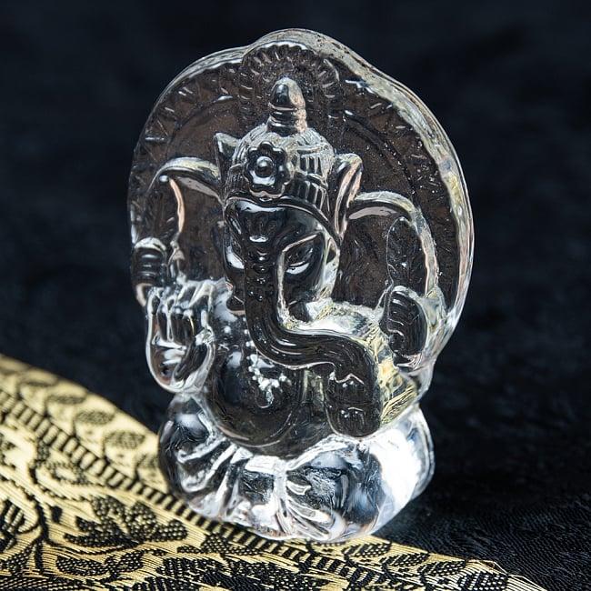 インドの神様 ガラス製ペーパーウェイト〔7cm×5cm〕 - ガネーシャの写真