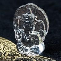 インドの神様 ガラス製ペーパーウェイト〔7cm×5cm〕 - ガネーシャ
