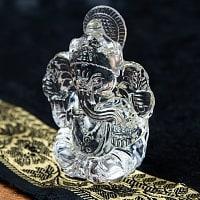 インドの神様 ガラス製ペーパーウェイト〔8.5cm×6.5cm〕 - ガネーシャ