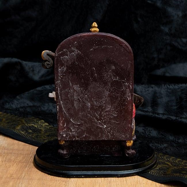 カラフルレジンの神様像 - 玉座に座るサラスヴァティ[12.5cm] 7 - 後ろから撮影しました。