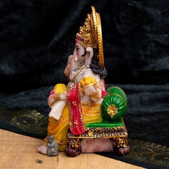 カラフルレジンの神様像 - モーダカを持つガネーシャ[15cm] 6 - 側面から撮影してみました。