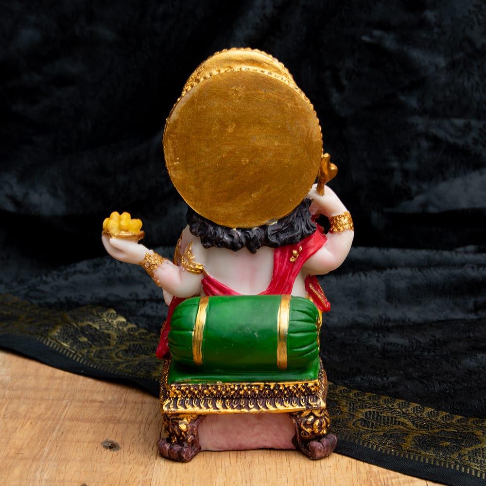 カラフルレジンの神様像 - モーダカを持つガネーシャ[15cm] 7 - 後ろから撮影しました。